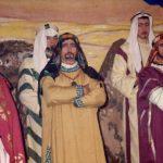 1968: le dimanche 7 janvier: les Rois Mages dans la salle du village (photo collection I. Mathy-Gonay) André Sluse, René Mathy, Roger Gaspard
