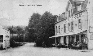 Carte postale: 1920: l'hôtel de la Hoëgne