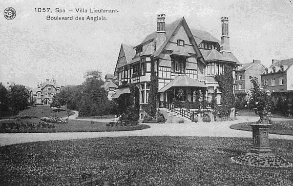 La villa Lieutenant bvd des Anglais, démolie pour faire place à une grande surface.