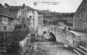 Carte postale: 1920: Le vieux pont de Polleur